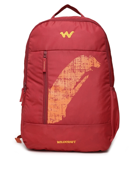 Wildcraft Unisex Red & Orange Brand Logo Backpack
