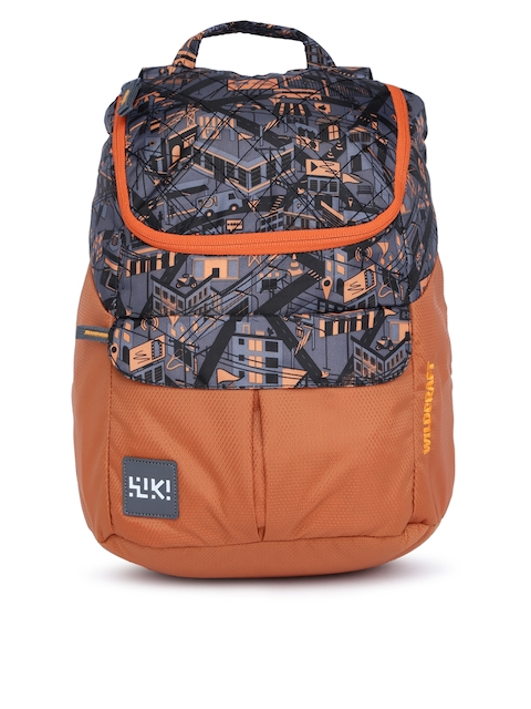 Wildcraft Unisex Orange Graphic Backpack