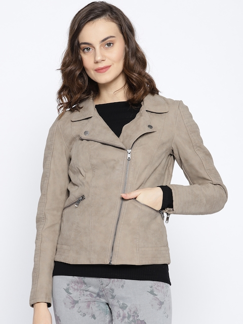 ONLY Women Beige Solid Tailored Jacket