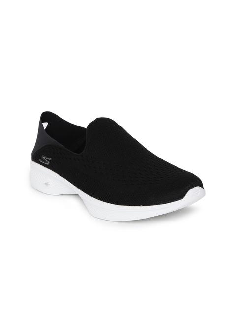 Skechers Women Black Walking Shoes