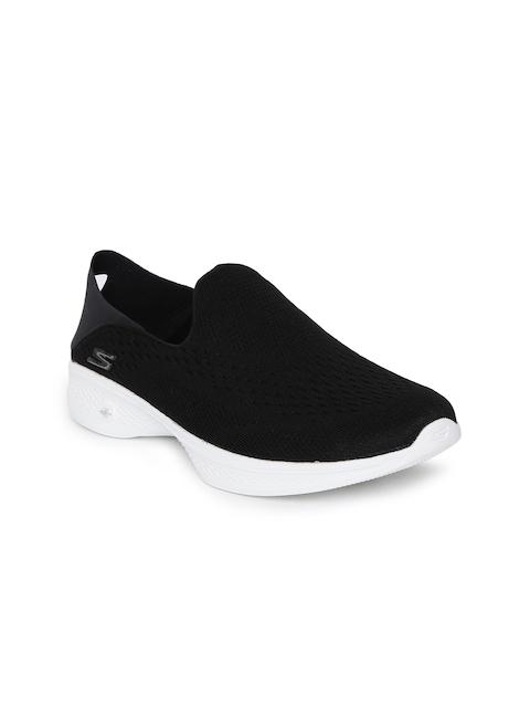 Skechers Women Black GO WALK 4- CONVERTIBLE Walking Shoes