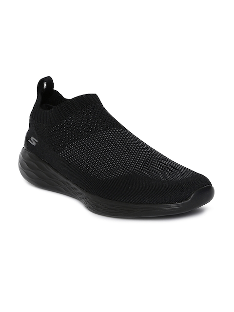 Skechers Men Black GO STRIKE Slip-on Walking Shoes