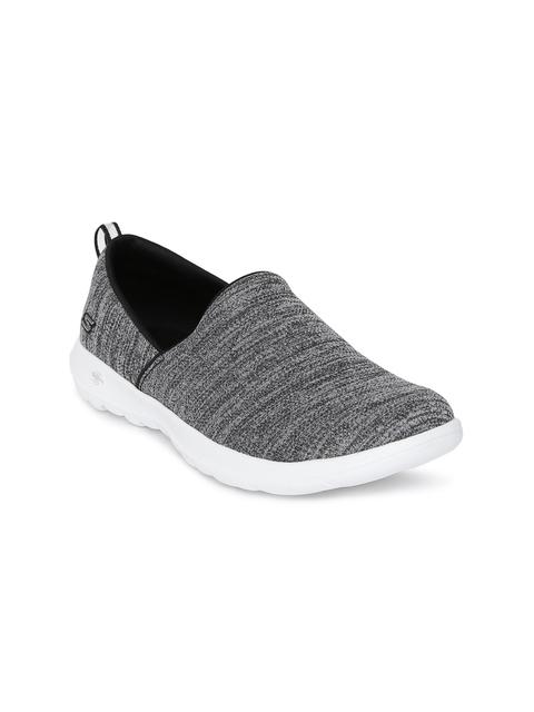 Skechers Women Grey Go Walk Lite Starlet Walking Shoes