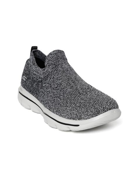 Skechers Women Black & Grey Go Evolution Ultra Walking Shoes