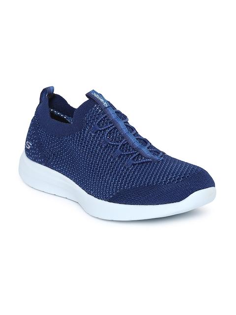 Skechers Women Blue Studio Comfort Life-Line Slip-Ons