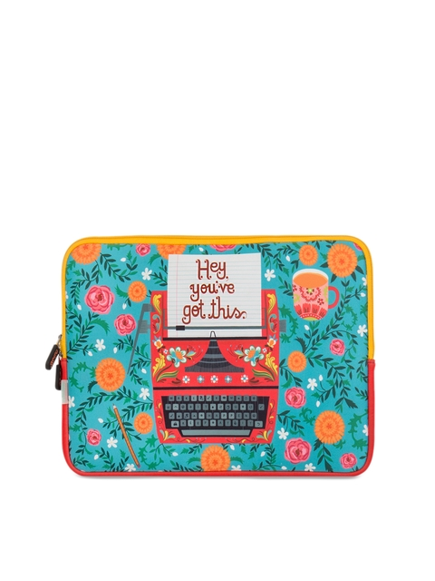 Chumbak Unisex Multicoloured Printed Laptop Bag
