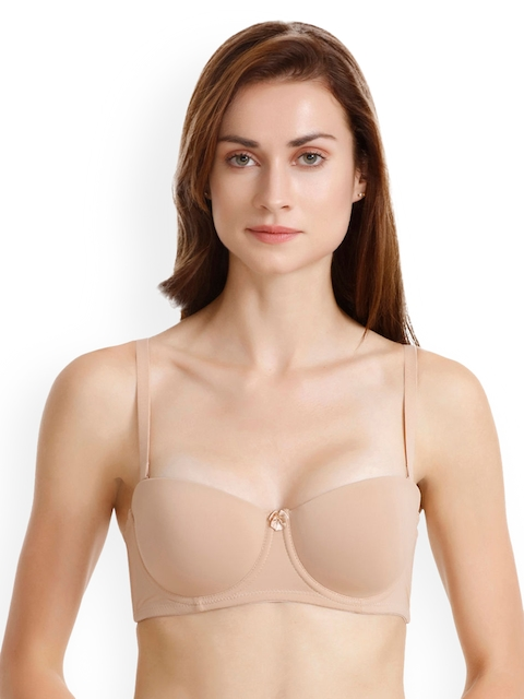 850991bafc0 50%off Zivame Nude-Coloured Solid Underwired Lightly Padded Everyday Bra  ZI1024CORE0NUDE