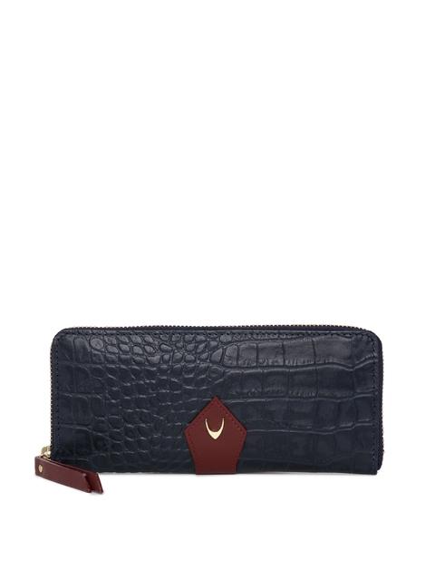 Hidesign Women Blue Leather Textured Zip Around Wallet