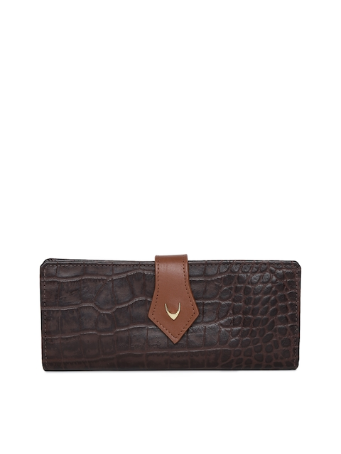 Hidesign Women Camel Brown Leather Textured Two Fold Wallet