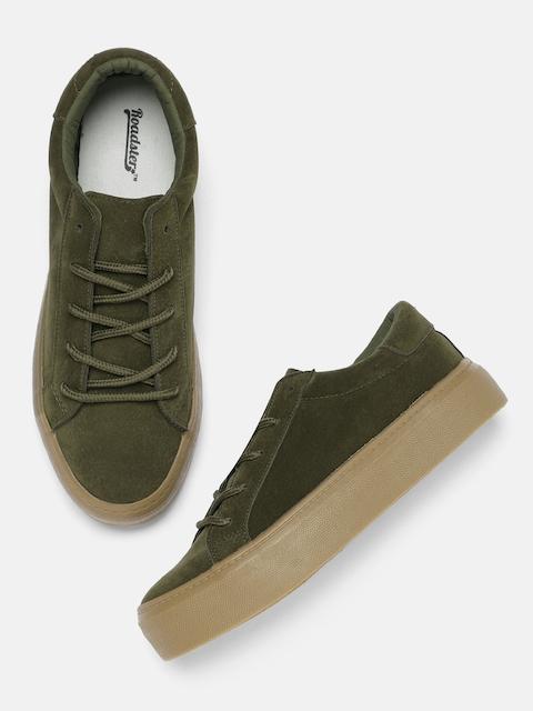 Roadster Women Olive Green Sneakers