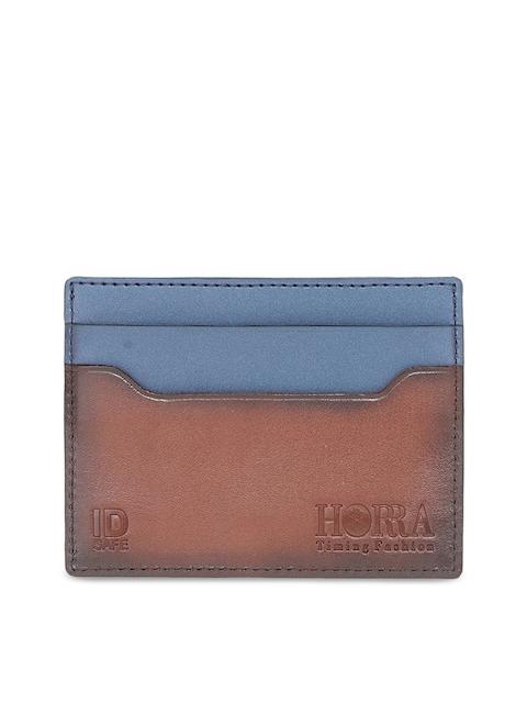 HORRA Men Tan Solid Card Holder