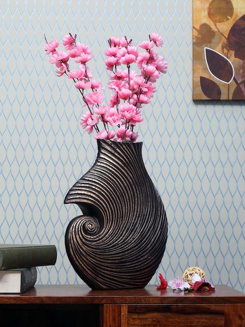Athome by Nilkamal Brown Ceramic Vase
