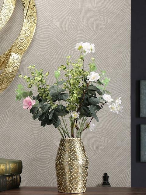 Athome by Nilkamal Gold-Toned Glass Vase