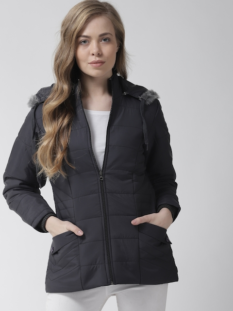 Fort Collins Women Black Solid Padded Jacket