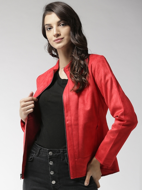 Fort Collins Women Red Solid Tailored Jacket