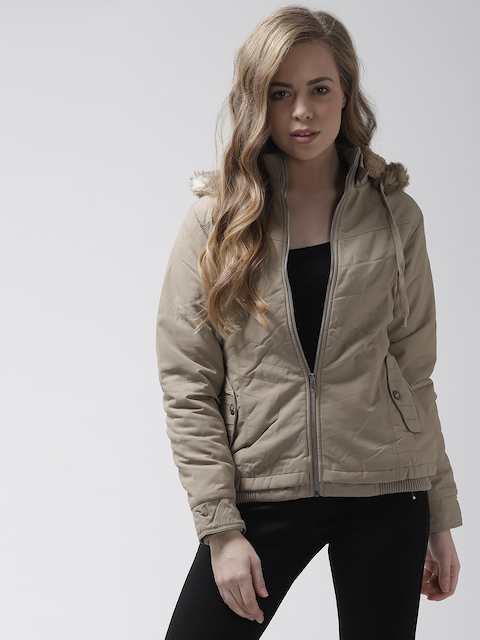 Fort Collins Women Khaki Solid Padded Jacket