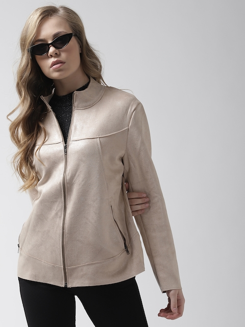 Fort Collins Women Peach-Coloured Solid Tailored Jacket