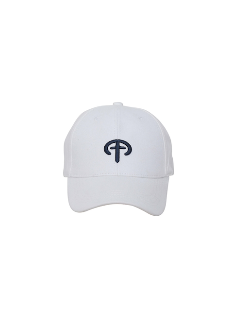 FabSeasons Unisex White Solid Baseball Cap