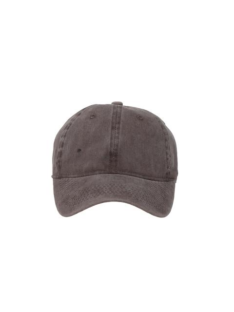 FabSeasons Unisex Brown Solid Baseball Cap