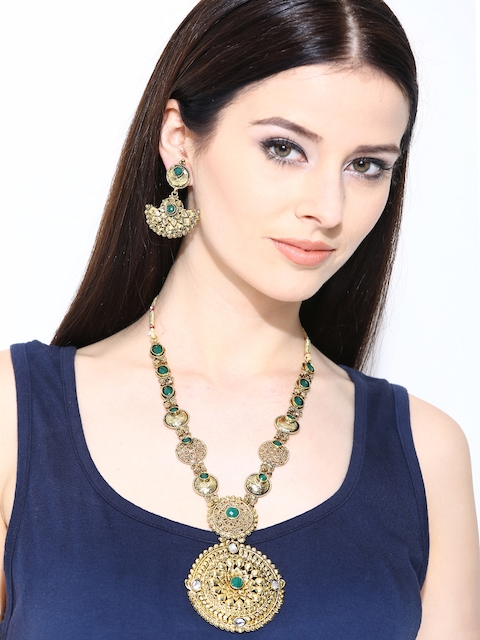 Zaveri Pearls Gold-Toned Jewellery Set