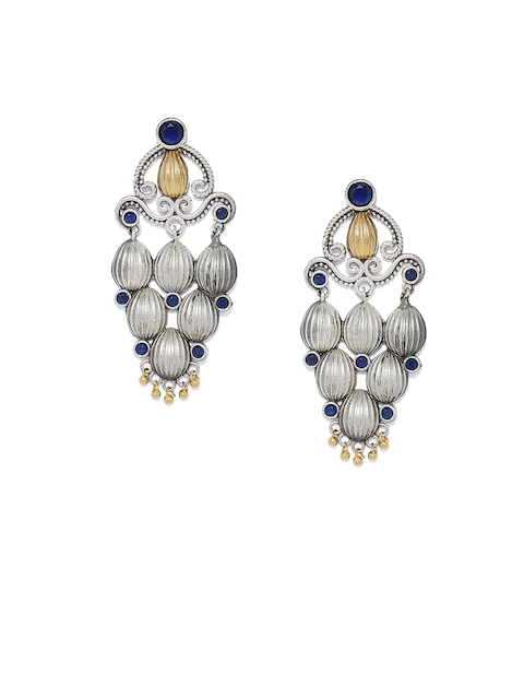 AccessHer Silver-Plated Classic Drop Earrings