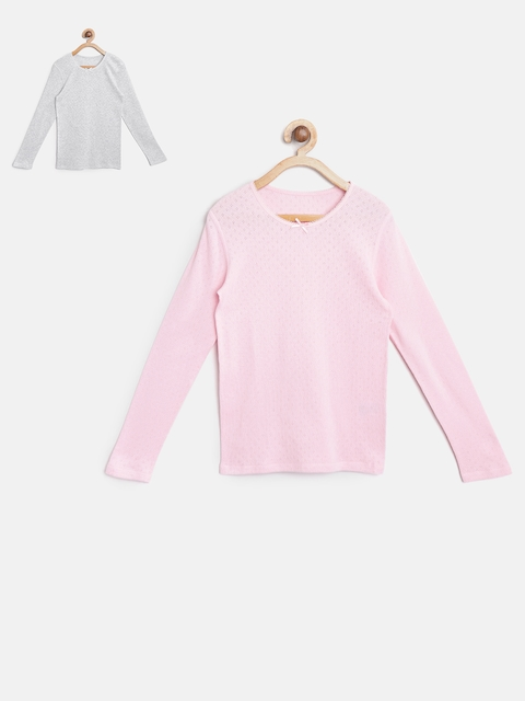 Marks & Spencer Girls Pack of 2 Thermal Tops T710373T