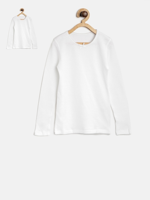 Marks & Spencer Girls Pack of 2 White Thermal Tops T710360T