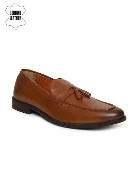 Arrow Men Tan Brown Genuine Formal Loafers