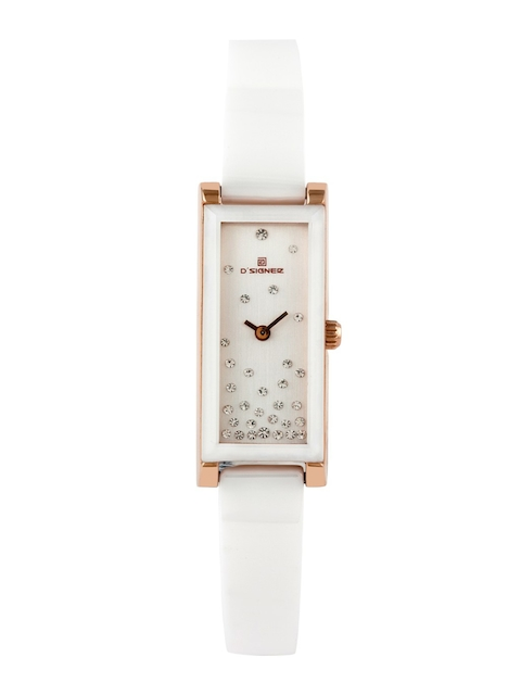 DSIGNER Women White Analogue Watch 654RGWCRM