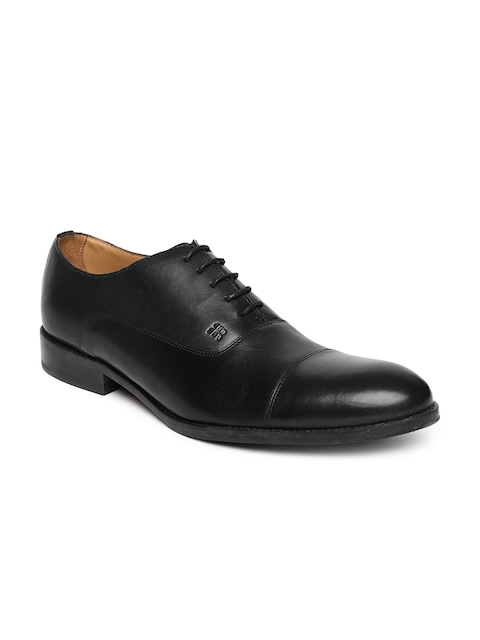 Raymond Men Black Formal Leather Oxfords