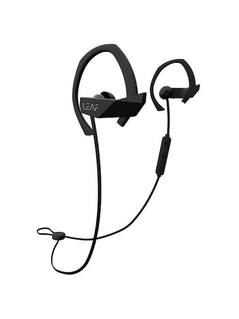 LEAF Black Sport Wireless Bluetooth Earphones With Mic