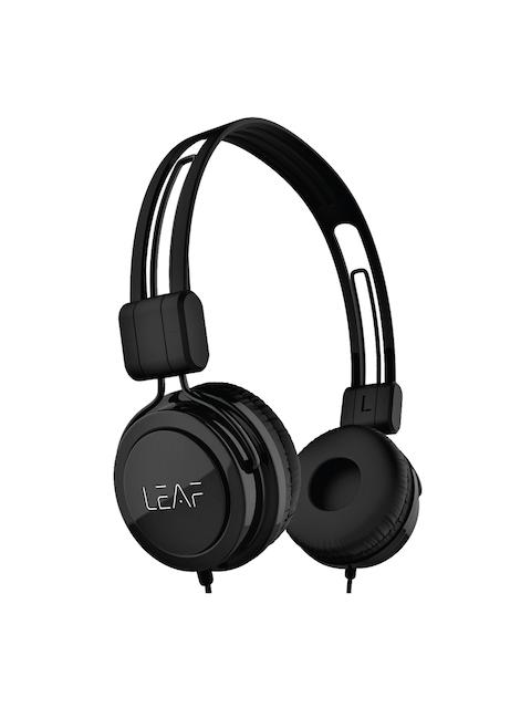 LEAF Black Rock Wired Headphones