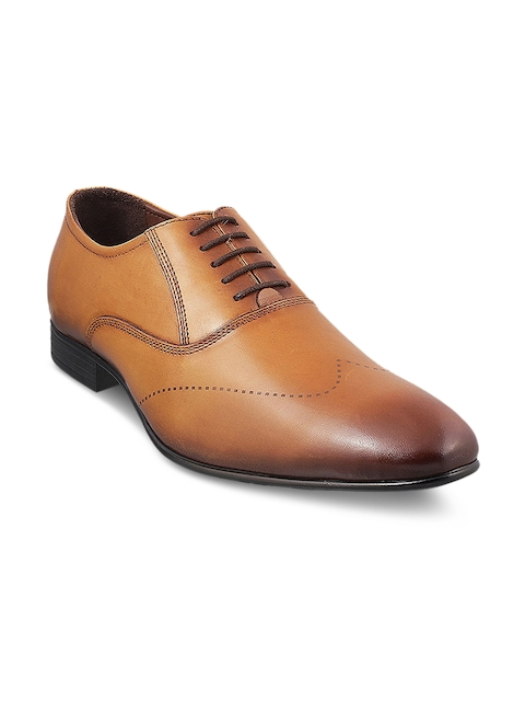 Mochi Men Tan Brown Formal Leather Oxfords