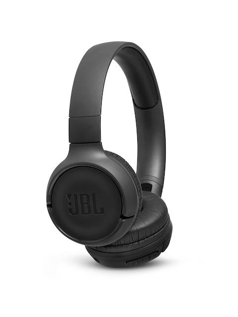 JBL Black T500BT Powerful Bass Wireless On-Ear Headphones with Mic