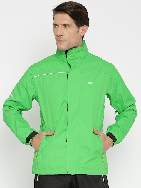 Wildcraft Green Checked Rain Jacket