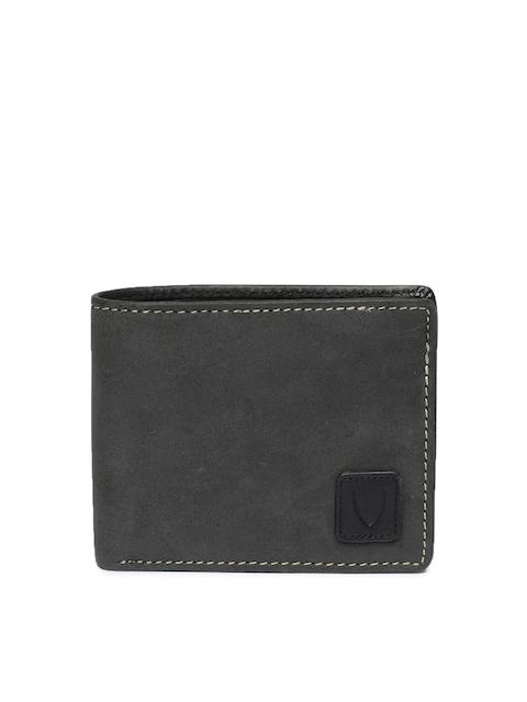 Hidesign Men Black Solid Leather Two Fold Wallet