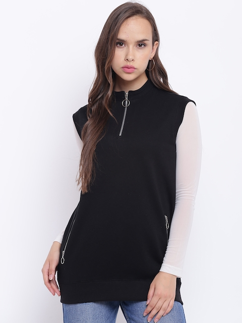 Texco Women Black Solid Sweatshirt