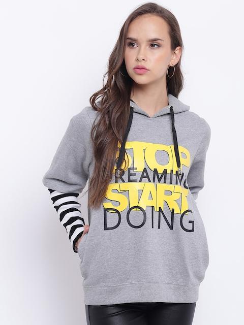 Texco Women Grey Printed Sweatshirt