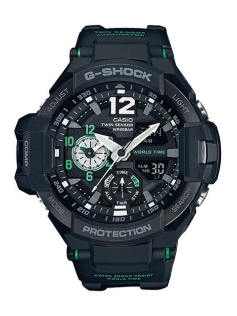 Casio G-Shock Men Black Analogue-Digital Watches (G595) GA-1100-1A3DR