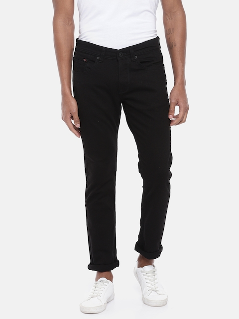 56a7b9cdfb2 SPYKAR Men Black Rovers Fit Low-Rise Clean Look Stretchable Jeans