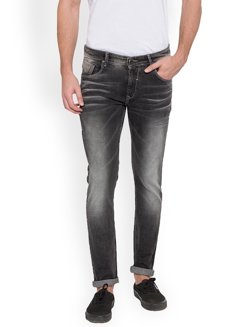 SPYKAR Men Black Skinny Fit Low-Rise Clean Look Jeans