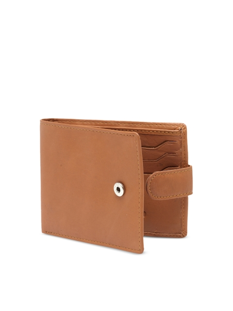 Teakwood Leathers Men Tan Brown Solid Genuine Leather Two Fold Wallet