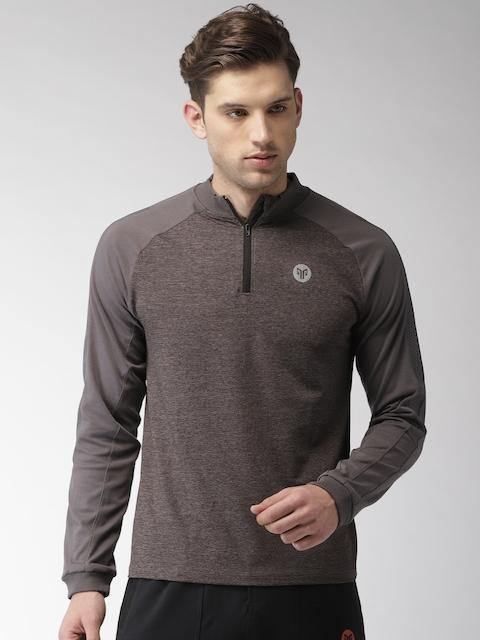 2GO Men Charcoal Solid Sweatshirt