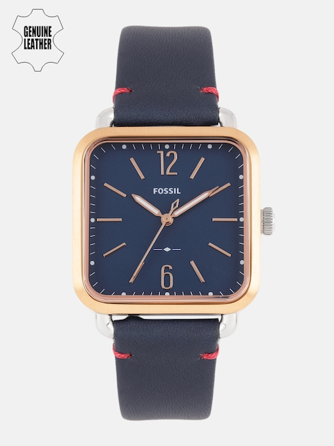Fossil Women Navy Blue Genuine Leather Analogue Watch ES4251I_EORS2019