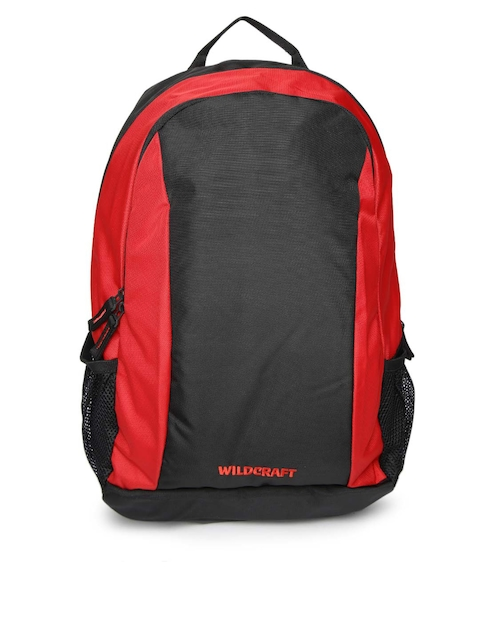 Wildcraft Unisex Black & Red Colourblocked Backpack