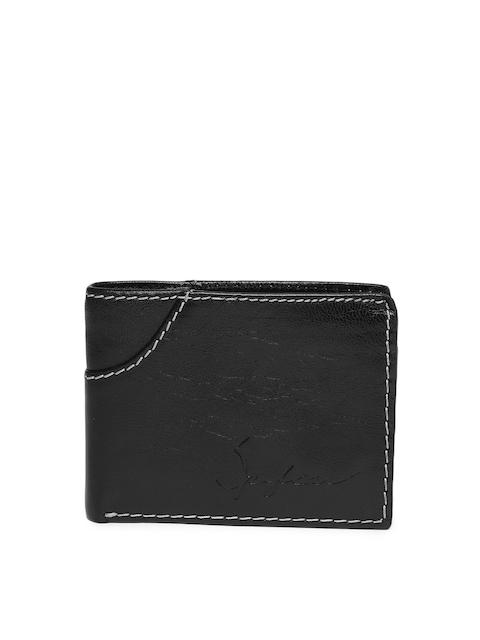 SPYKAR Men Black Solid Two Fold Wallet