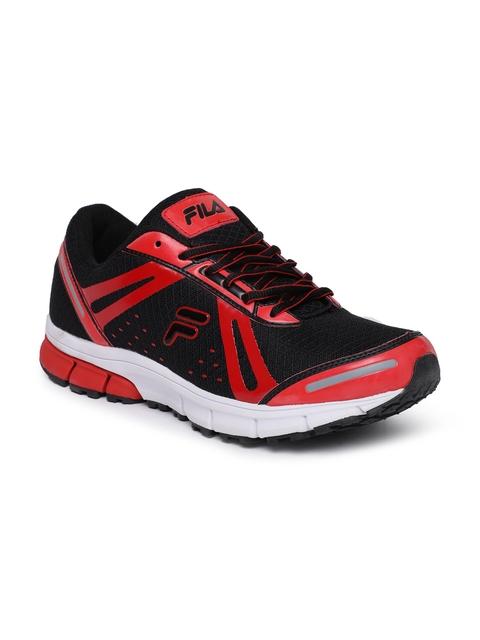 FILA Men Black & Red Running Shoes