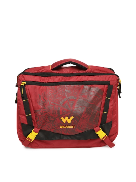 Wildcraft Unisex Red Printed Laptop Bag
