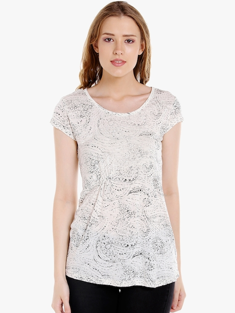 SPYKAR Women Off-White Printed Top