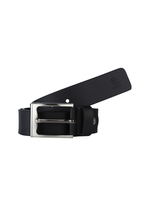 Kara Men Black Textured Belt